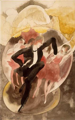 Charles Demuth - In Vaudeville, Dancer with Chorus