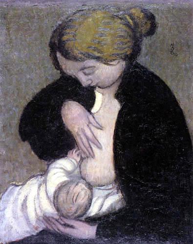 Maurice Denis - Mutter in schwarzer Bluse