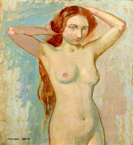 Maurice Denis - Frau sich die Haare kämmend
