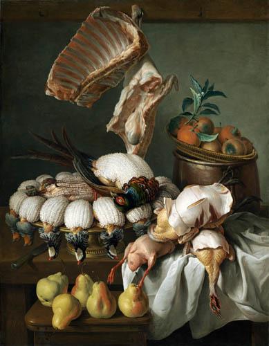 Alexandre-Francois Desportes - Stilleben mit Fleisch und Obst