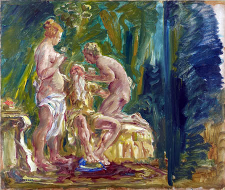 August Deusser - Lot and his daughters