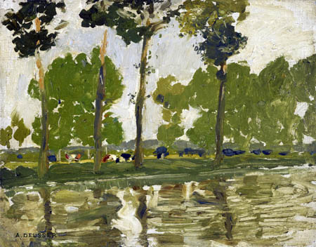August Deusser - River Landscape