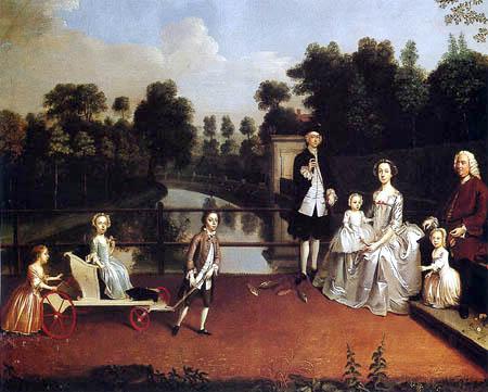 Arthur Devis - A family in a garden