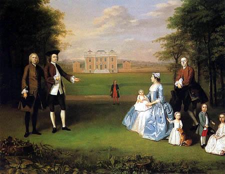Arthur Devis - Robert Gwillym und seine Familie