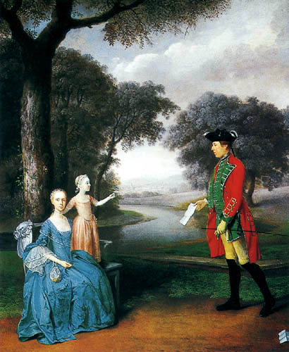 Arthur Devis - Francis Vincent and his wife
