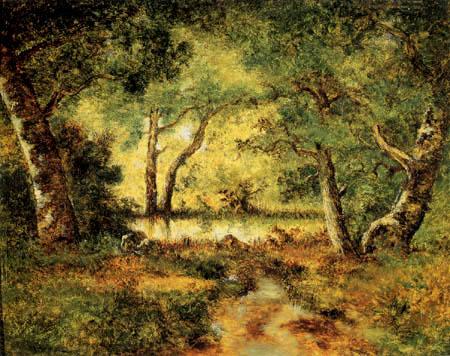 Narcisse Diaz de la Peña - The pond of the Pixie