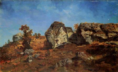 Narcisse Diaz de la Peña - Rocky landscape near Barbizon