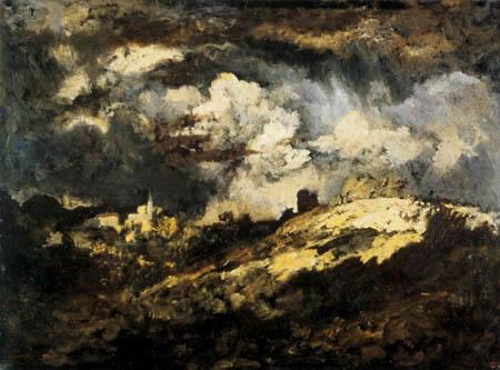 Narcisse Diaz de la Peña - Thunderstorm landscape
