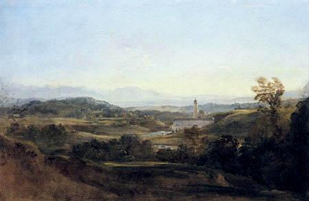 Johann Georg von Dillis - Blick auf Dietramszell