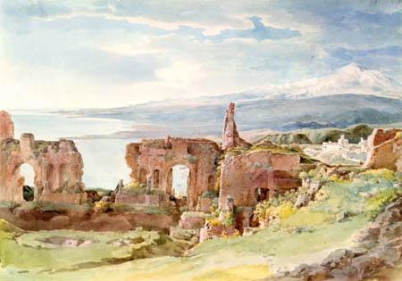 Johann Georg von Dillis - Das griechische Theater, Taormina