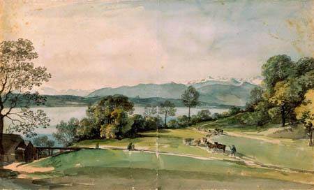 Johann Georg von Dillis - On the Starnberger See