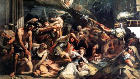 Gaspare Diziani - Kindermord in Bethlehem, Detail