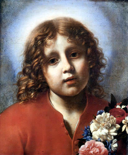 Carlo Dolci - The Jesus child with girdle of flowers