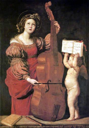 Domenichino (Domenico Zampieri) - La Sainte Cecilie