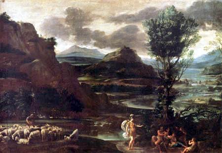 Domenichino (Domenico Zampieri) - Herminia bei den Hirten
