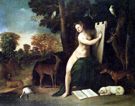 Dosso (Giovanni di Lutero) Dossi - Circe with animals in a landscape
