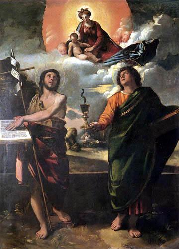 Dosso (Giovanni di Lutero) Dossi - Apparition de la Virgen