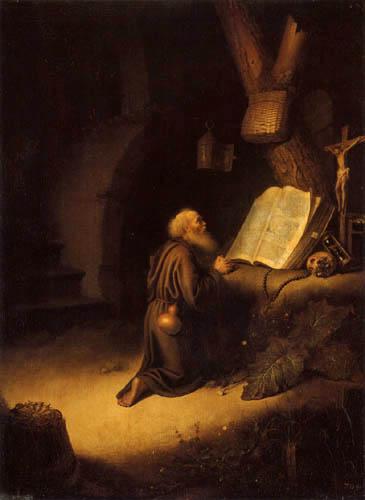 Gerard (Geritt) Dou - A praying Hermit
