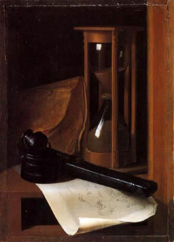 Gerard (Geritt) Dou - Stillleben mit Stundenglas