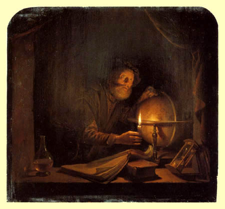 Gerard (Geritt) Dou - Astronomer in candlelight