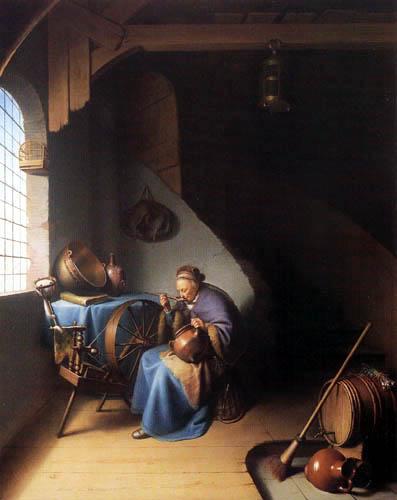 Gerard (Geritt) Dou - Interior