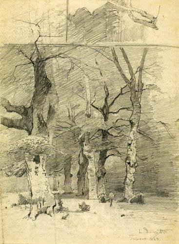 Louis Douzette - Hêtres dans la forêt près de Prerow