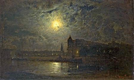 Louis Douzette - Mond über Amsterdam