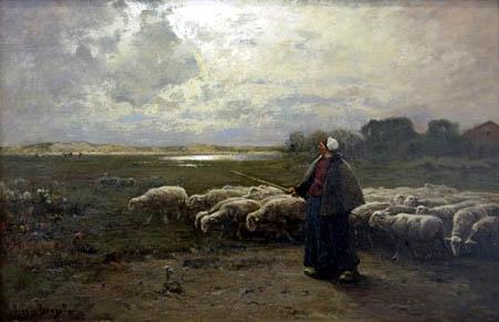 Louis Douzette - Shepherdess at Bodden