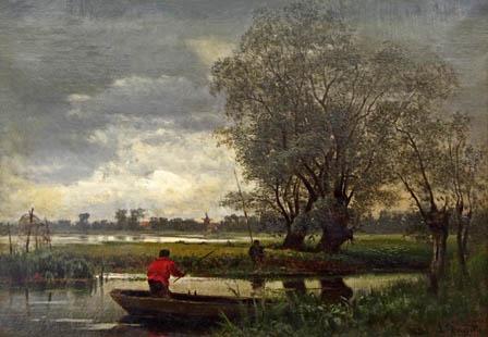 Louis Douzette - Deux pêcheurs à Prerow