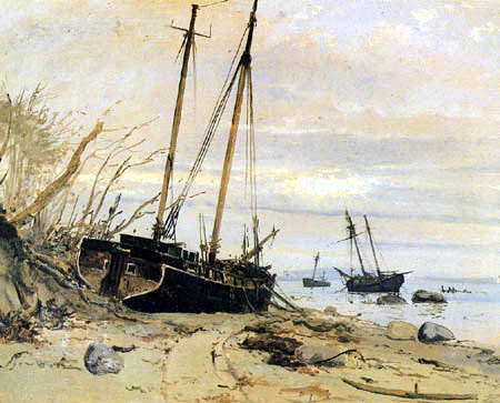 Holger Drachmann - Storm surge in Falster