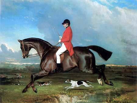 Alfred de Dreux (Dedreux) - Portrait of Hollingworth Magniac on his Horse Eureka