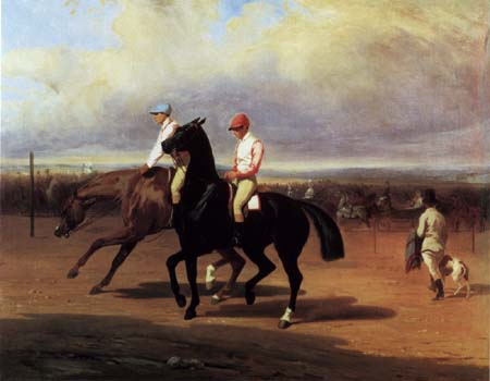 Alfred de Dreux (Dedreux) - Before the Horse Race