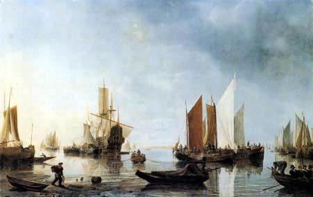 Hendrik Jacobsz Dubbels - Hafen mit ankernden Schiffen