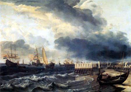 Hendrik Jacobsz Dubbels - Flottenaufbruch bei Den Helder