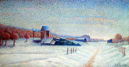 Albert Dubois-Pillet - Winter landscape