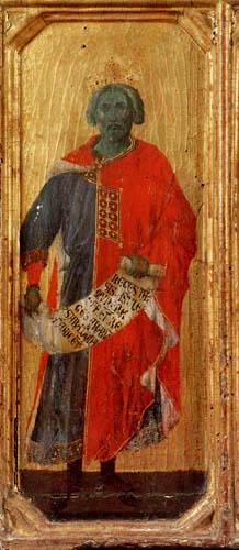 Duccio (di Buoninsegna) - Maesta, Der Prophet Salomo