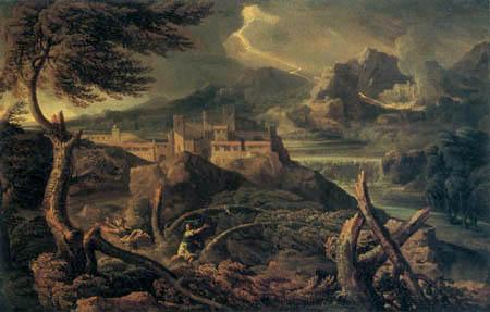 Gaspard Dughet - Thunderstorm landscape