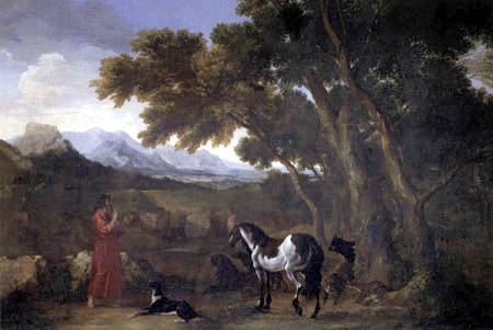 Gaspard Dughet - Hermit preaches to the animals