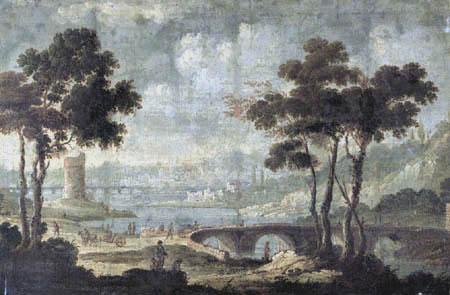 Gaspard Dughet - Ruinen am Tiber