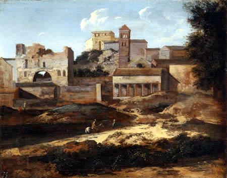 Gaspard Dughet - Capriccio of a classical building