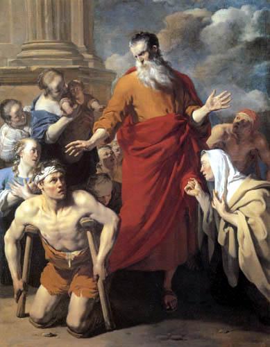 Karel Dujardin - Paulus heilt den Lahmen in Lystra