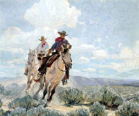 W. Herbert Dunton - Riding the Range
