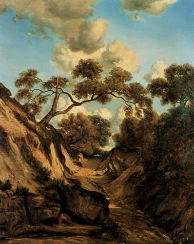 Jules Dupre - Trail in a ravine