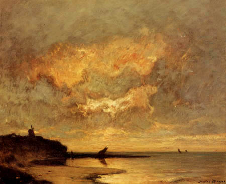 Jules Dupre - A evening at the coast