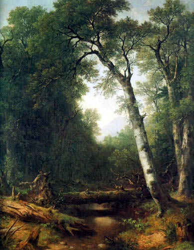 Asher Brown Durand - A brook in the forest