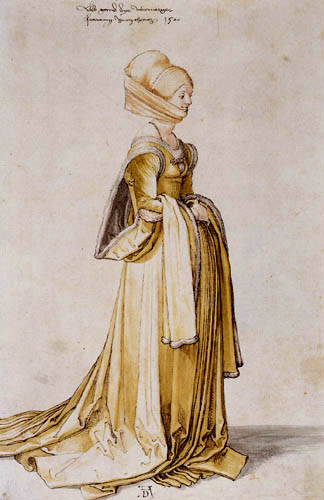 Albrecht Dürer - A woman from Nuremberg in the dance dress