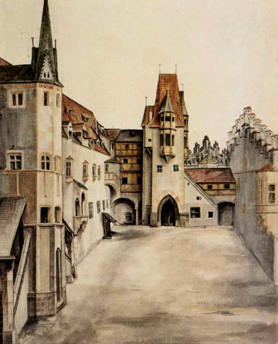 Albrecht Dürer - The yard of the castle in Innsbruck