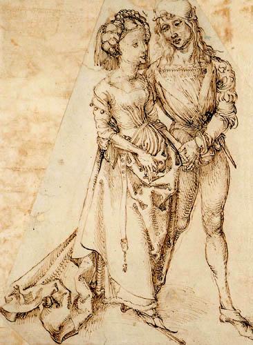 Albrecht Dürer - Junges gehendes Pärchen