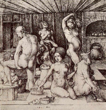 Albrecht Dürer - The woman bath