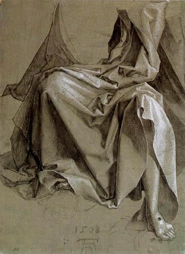 Albrecht Dürer - Studie zum Gewand Christi